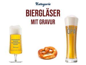 Biergläser mit Gravur