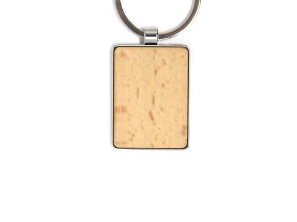Gravurfläche individueller Schlüsselanhänger mit Gravur eckig