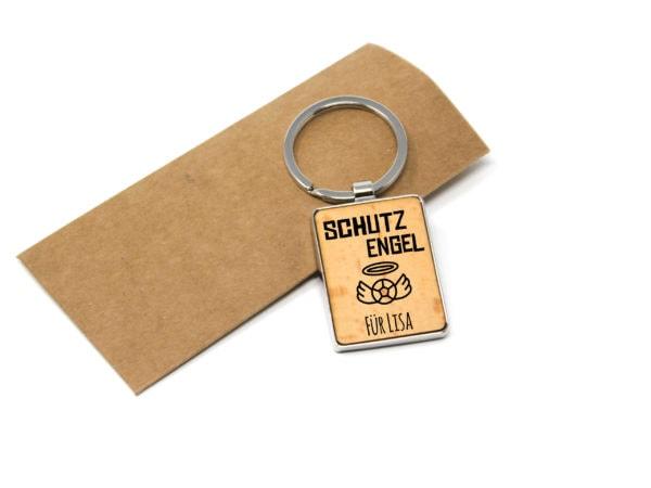 """Schutzengel individueller Schlüsselanhänger mit Gravur """"gute Fahrt"""""""