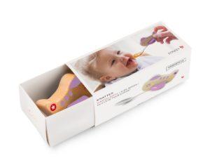 Kinderlöffel mit Flugzeug Rosa in Geschenkverpackung