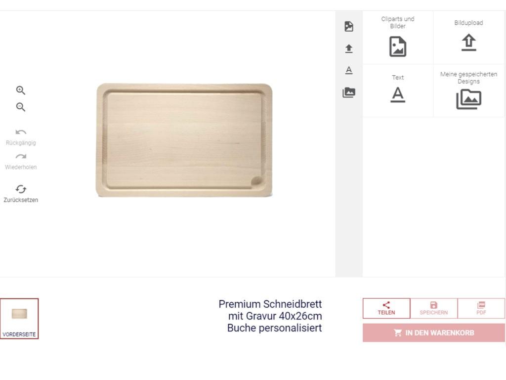 Konfigurator Laserliebe.de Erstelle Geschenke mit Gravur online im Konfigurator