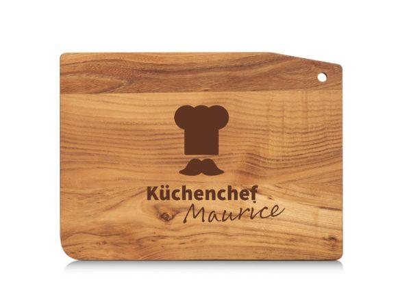 Holzbrett mit Gravur Küchenchef