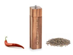 Salz- und Pfeffermühle mit Gravur