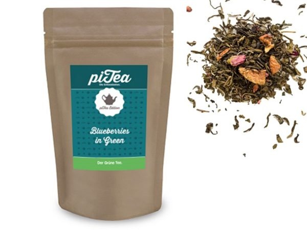 Pitea Blueberries in green L Grüner Tee mit Heidelbeeren