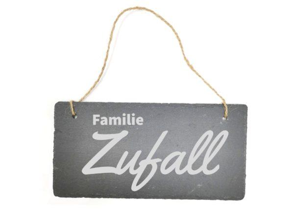 Familien Schild aus Schiefer mit Gravur
