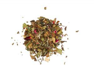 Raspberry in white lose Ein sanfter Weißer Tee mit fruchtigem Himbeergeschmack