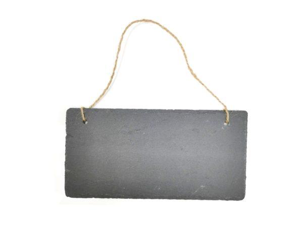 Hängeschild aus Schiefer mit Gravur 20x10cm