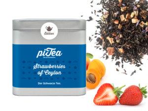 Strawberries of Ceylon Dose- Schwarzer Tee mit Erdbeere und Aprikose