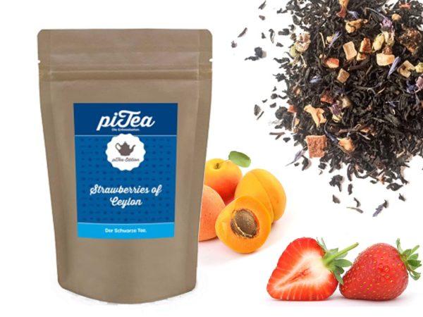 Strawberries of Ceylon - Schwarzer Tee mit Erdbeere und Aprikose