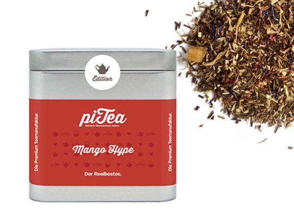 besonderer Tee piTea Mango Hype Dose Teestation Rooibostee mit Mango Teegeschenk