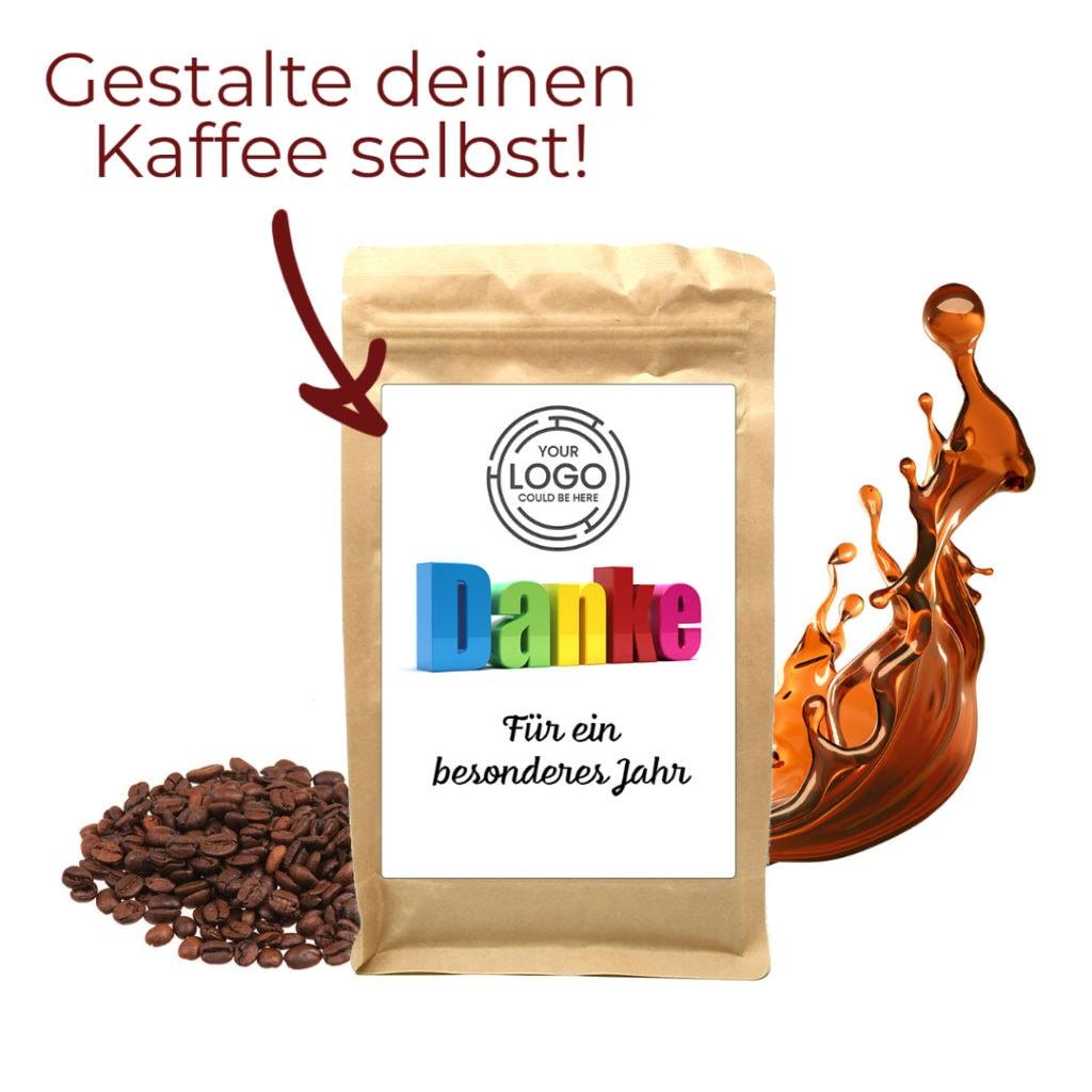 Kaffee Etikett selbst gestalten Personalisierter Kaffee