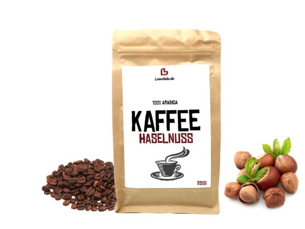 Aroma Kaffee Haselnuss Aromatisierter Kaffee ganze Bohne 250g