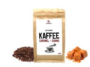 Aromatisierter Kaffee Caramel Sahne ganze Bohne 250g Karamell Sahne