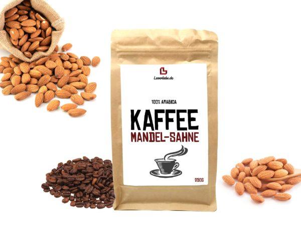 Aroma Kaffee Mandel Sahne Aromatisierter Kaffee ganze Bohne 250g