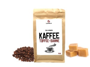 Aromatisierter Kaffee Toffee Sahne ganze Bohne 250g