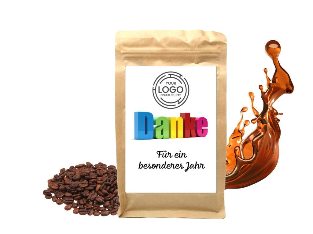 Personalisierter Kaffee Danke Sagen