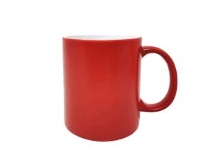 Personalisierte Tasse mit Gravur rot
