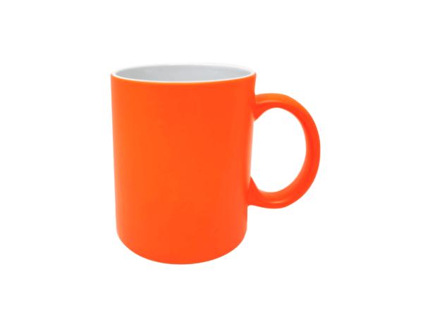 Personalisierte Tasse neon orange frei