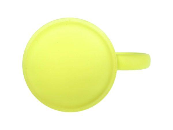 Tassenboden Tasse mit Gravur neon Gelb